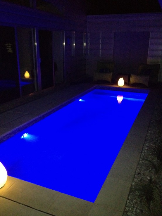 Pool Lighting Installation Oklahoma City Tulsa Blue