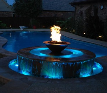 Blue Haven Pools Tulsa Water Lighting salt water swimming pool
