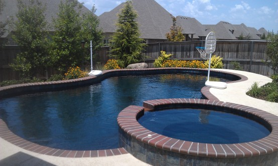 Free form swimming pools blue haven pools tulsa Hot tubs tulsa