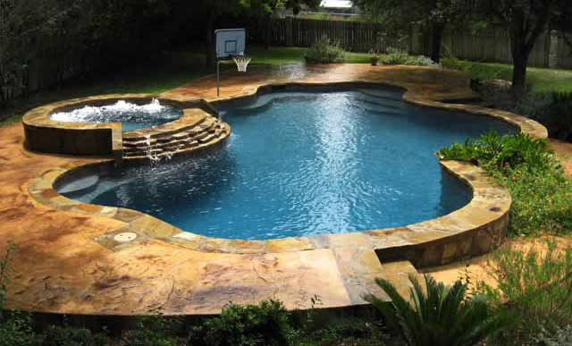 Free form swimming pools blue haven pools tulsa for Pool plans free