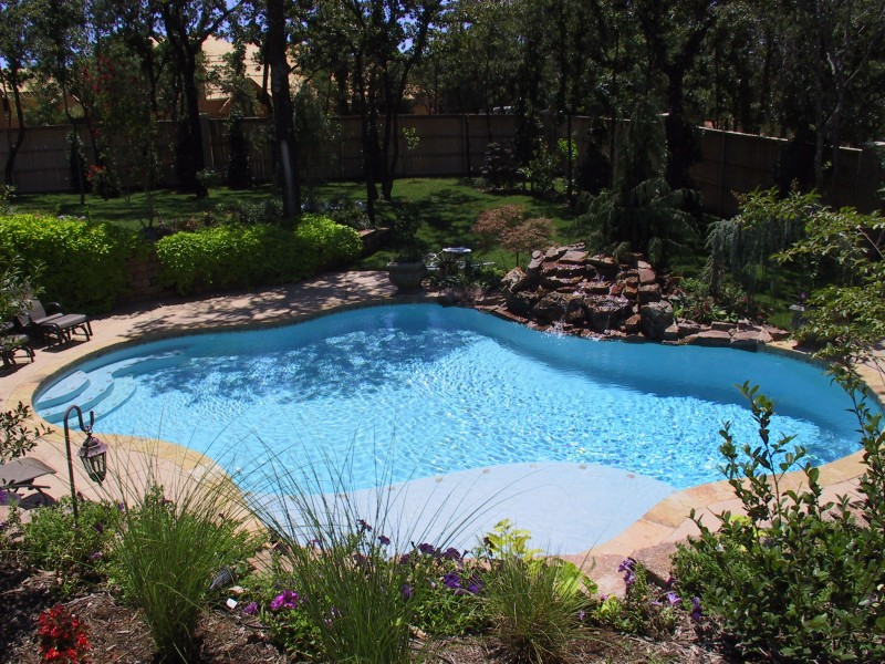 Free form pools blue haven pools tulsa for Pool plans free