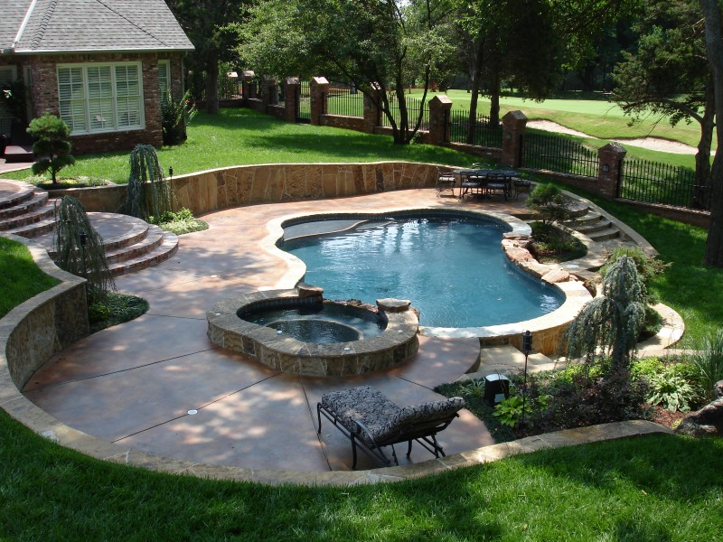 Hot tubs and spas in oklahoma city tulsa blue haven for Pool design okc