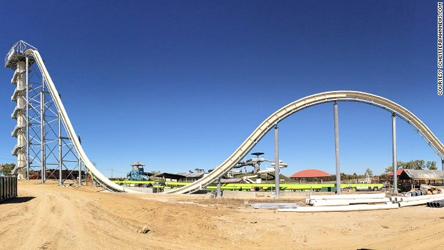 Large slide at a water park