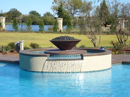 Water features installed by Blue Haven Pools